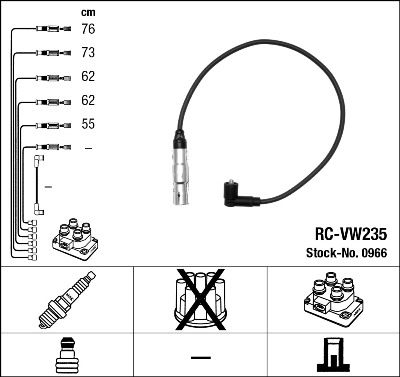 Комплект проводов зажигания NGK 0966