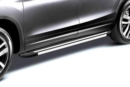 Комплект алюминиевых порогов Arbori Luxe Black 1800 для HONDA Pilot 2016-2019