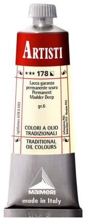 Масляная краска Maimeri Artisti мареновый лак темный 40 мл