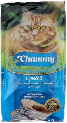 Сухой корм для кошек Chammy, рыба, 1,9кг