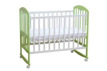 Кровать-качалка детская Фея 323 Белая-Мята