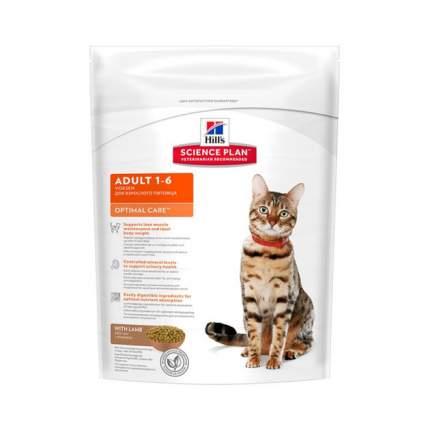 Сухой корм для кошек Hill's Science Plan Optimal Care, ягненок, 0,4кг