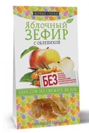 """Яблочный зефир """"С облепихой"""", 60г, ЖИВЫЕ СНЕКИ"""