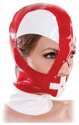 Маска-шлем Pipedream на молнии красно-белый
