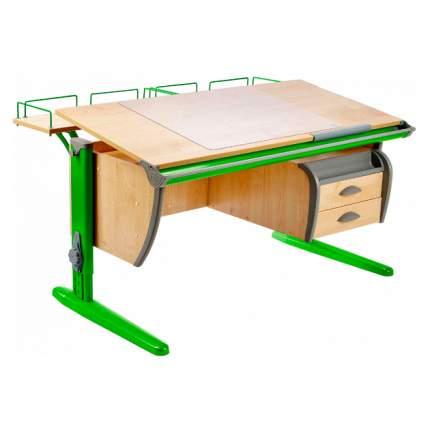 Парта ДЭМИ СУТ-15-04 120х55 см + 2 задние приставки и тумба клен, зеленый,