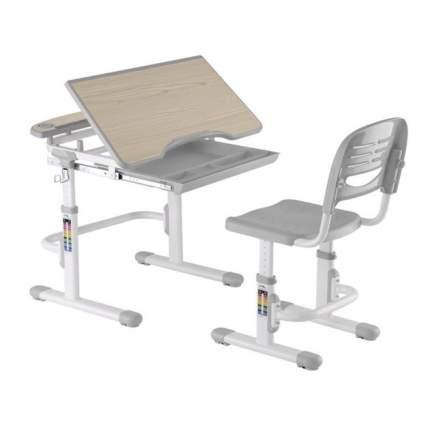 Комплект парта и стул для малышей FunDesk Sorriso серый, белый,