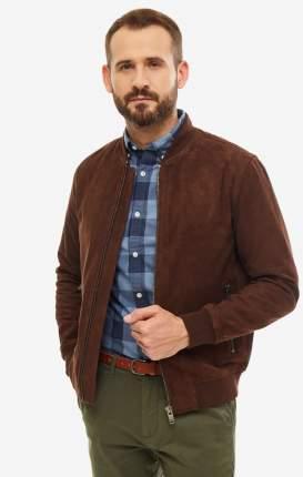 Куртка кожаная мужская Selected 16065843 brown stone коричневая L