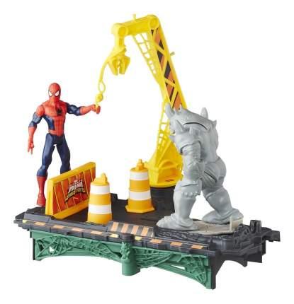 Игровой набор marvel человек паук: сражение с дино b7199