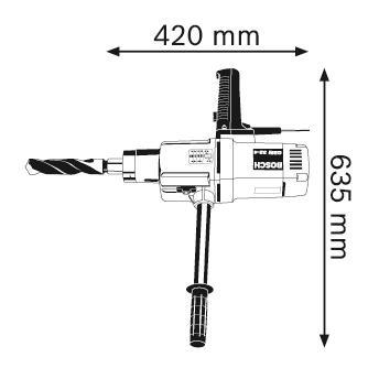 Сетевая безударная дрель Bosch GBM 32-4 601130208