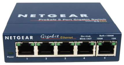 Коммутатор NetGear ProSafe GS105GE Синий