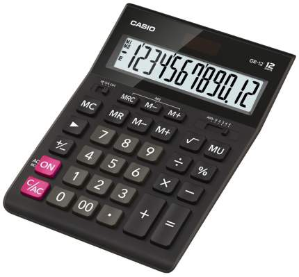 Калькулятор Casio GR-12-W-EH Черный