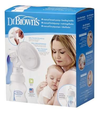 Молокоотсос Dr.Brown's Ручной с бутылочкой для кормления 120 мл