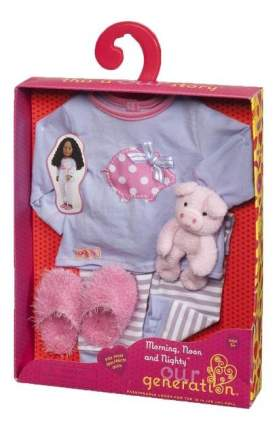 Пижама, тапочки, игрушка для кукол Our Generation