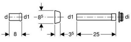 Переходник для колена смыва GEBERIT 45 мм (118.026.11.1)