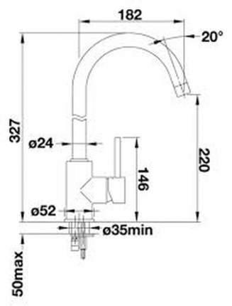 Смеситель для кухонной мойки Blanco LENO 519524 лава