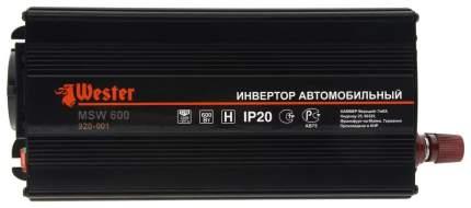 Автомобильный преобразователь напряжения Wester 12В-220В 600Вт