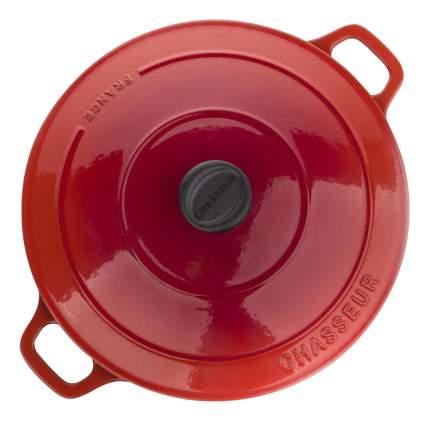 Кастрюля для запекания CHASSEUR Чугунная 5,2 л алый