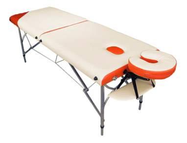 Массажный стол US Medica Super Light оранжевый/белый