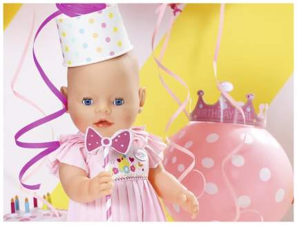 Интерактивная кукла Zapf Creation Baby born Нарядная с тортом 825-129