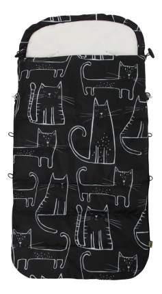 Конверт демисезонный Кошки на черном Selby