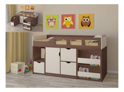 Кровать-чердак РВ мебель Астра 8 дуб шамони/дуб молочный