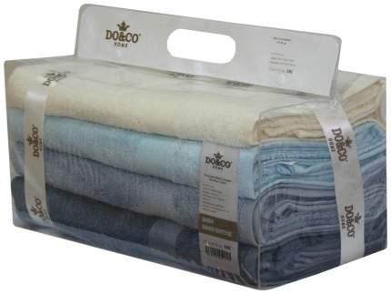 Набор полотенец DO&CO olivi бежевый, голубой, синий