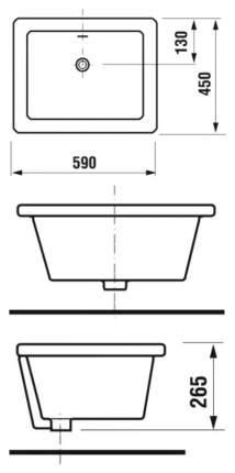 Мойка для кухни керамическая Jika Doris 59см 8510290000001