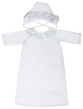Крестильный комплект одежды Сонный Гномик для мальчика белый 13/0 62