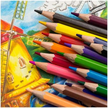 Карандаши цветные ГАММА Классические 18 цветов 050918_03