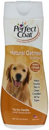 Шампунь для собак 8in1 Perfect Coat Natural Oatmeal успокаивающий с ароматом ванили, 473мл