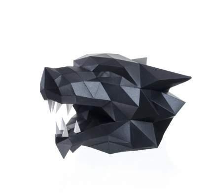 """Полигональная фигура PAPERRAZ Маска """"Волк""""(черная)"""
