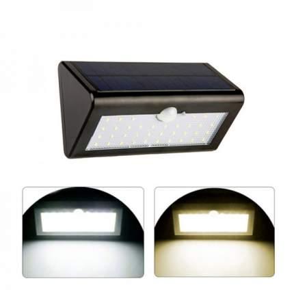 Настенный уличный LED светильник на солнечных батареях (Черный)