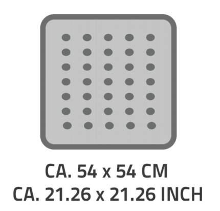 Коврик противоскользящий Playa серый 54*54