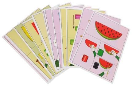 Изобразительная деятельность 4-5 лет Осень: 24 демонстрационные карты и 8 карт с шаблонами