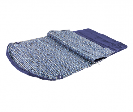 Спальный мешок Trek Planet Glasgow Double синий, двусторонний