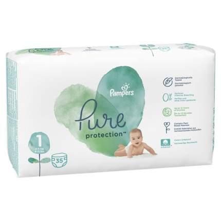 Подгузники для новорожденных Pampers Pure Protection 2-5 кг, размер 1, 35 шт.