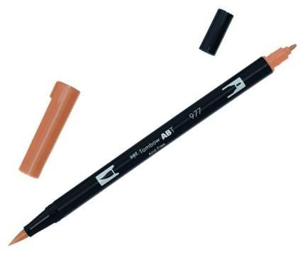 Брашпен Tombow ABT Dual Brush Pen 977 коричневое седло