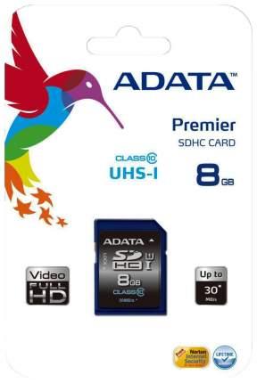 Карта памяти ADATA SDHC ASDH16GUICL10-R 8GB
