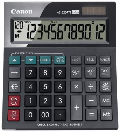 Калькулятор Canon AS-220RTS Темно-серый