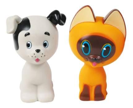 Набор игрушек для ванны Играем Вместе Котенок Гав и щенок 136R-PVC