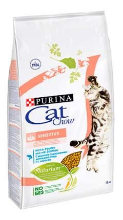 Сухой корм для кошек Cat Chow Special Care Sensitive, птица, лосось, 15кг