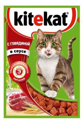 Влажный корм для кошек Kitekat, говядина в соусе, 24шт по 85г