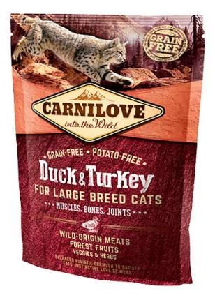 Сухой корм для кошек Carnilove Large Breed, для крупных пород, утка, индейка, 0,4кг