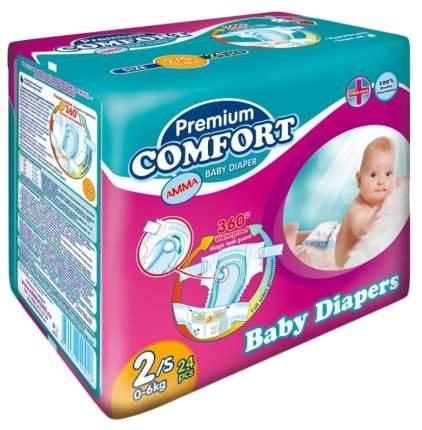 Подгузники для новорожденных Amma Premium Comfort 2 (0-6 кг), 24 шт.