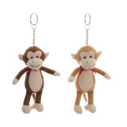 Мягкая обезьянка с бантом 14 см брелок 6в