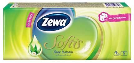 Носовые платки Zewa Softis Aloe Balsam, 9шт.*10
