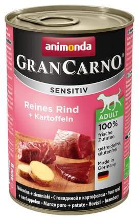 Консервы для собак animonda Gran Carno Sensitiv, говядина, картофель, 400г