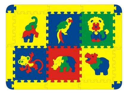 Мягкий коврик-пазл Флексика Африка 6 деталей