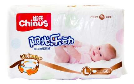 Подгузники Chiaus Premium L (9-13 кг), 50 шт.