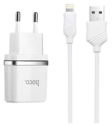 Сетевое зарядное устройство Hoco C12 2 USB 2,4A White